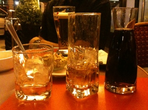 The French way to serve Jack Daniels and Coke - enchante!