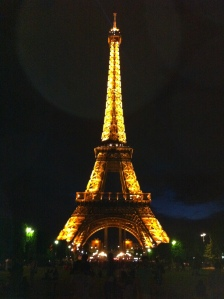 The Eiffel Tower at night - a must see.